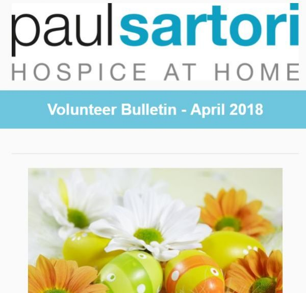 Paul Sartori Volunteer Bulletin