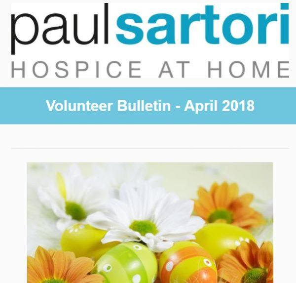 Paul Sartori Hospice at Home Volunteer Bulletin