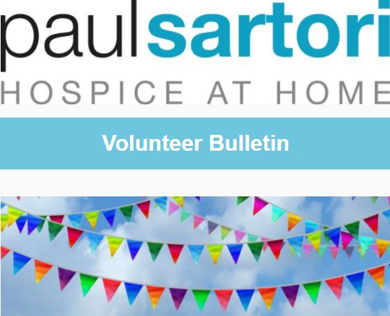 Paul Sartori Hospice at Home Volunteer Bulletin Volunteering Pembrokeshire