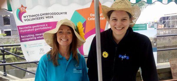 Cally and Louise celebrating National Volunteers Week 2017