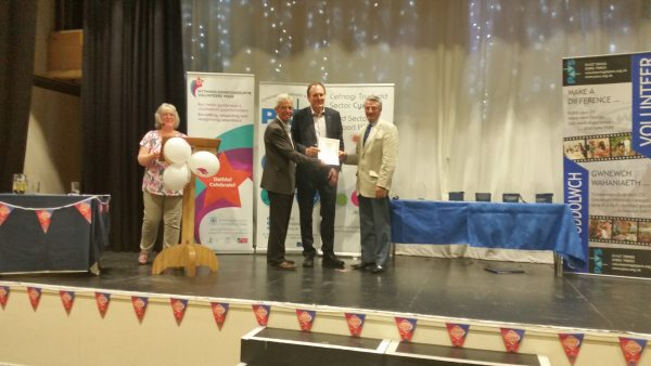Trustees receiving their commended certificate at the Pembrokeshire Volunteering Awards