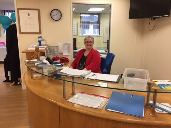 Rachel Warlow Paul Sartori House Reception Volunteer Volunteering Hospice at Home