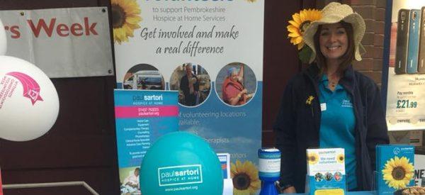 Paul Sartori Volunteering Coordinator celebrating National Volunteers Week
