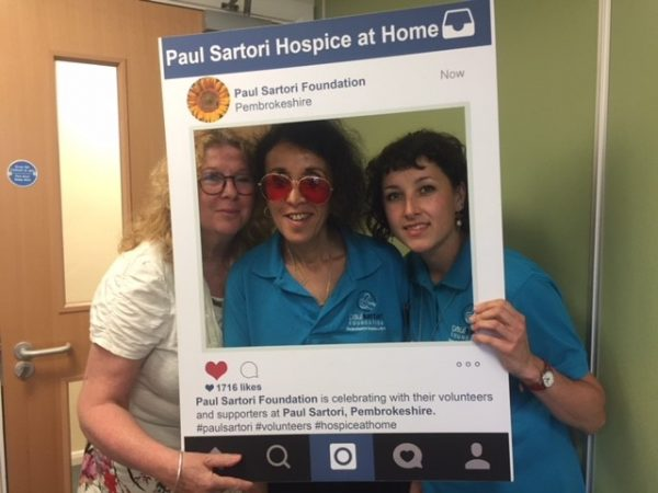 Paul Sartori Complementary Volunteers Caroline, Malika and Ruth 2018