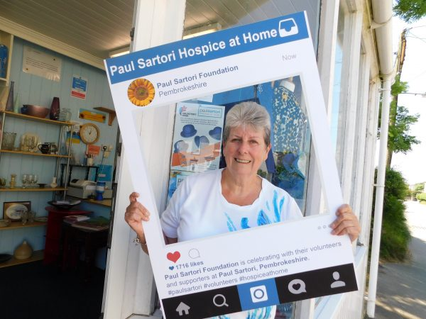 Liz at Paul Sartori Letterston store Hospice at Home