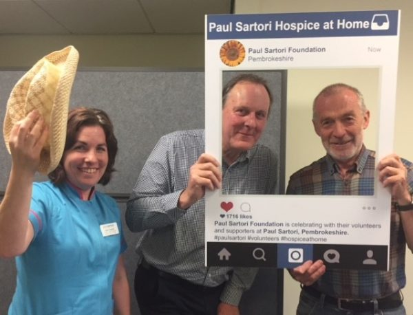 Paul Sartori Clinical Manager Laura with Trustees Paul and Fin 2018