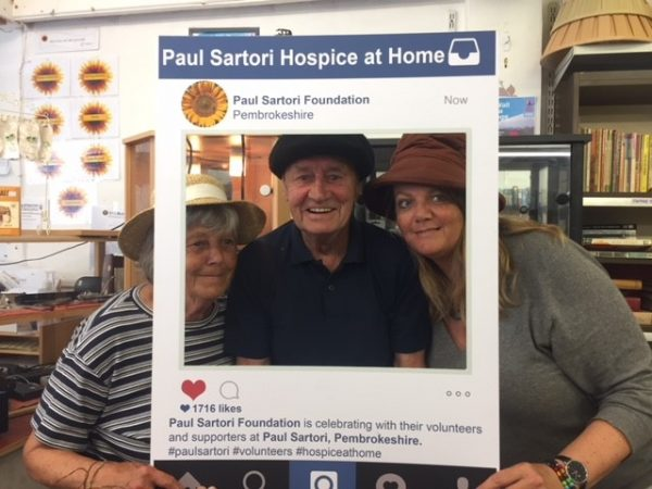 Paul Sartori Tenby Volunteers Helen, Michael and Anne 2018