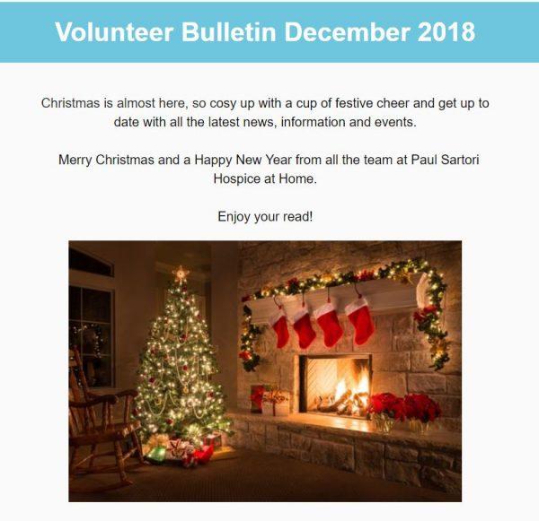 December Volunteer Bulletin