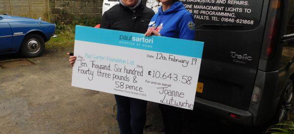Outstanding Fundraising contribution to Paul Sartori