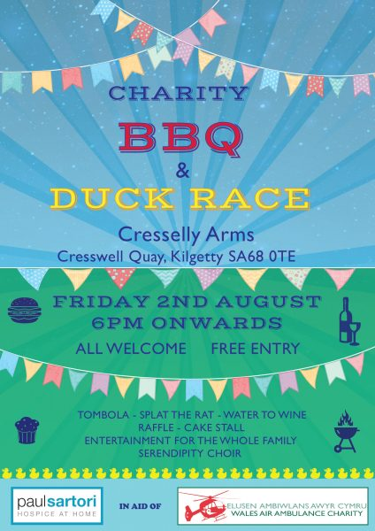 Charity BBQ Cresselly